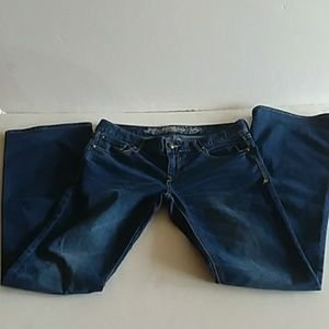 Express jeans womens boot cut  #6R /27-32  blue